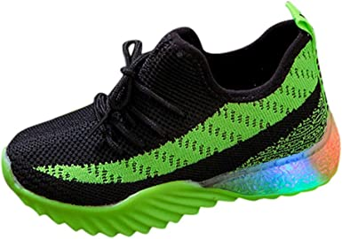 Zapatillas de Unisex Ligera y Transpirable en Verano Malla Tejida voladora Antideslizante para niños Unisex con Luces LED Zapatos Brillantes Zapatos radiantes Zapatillas Deportivas: Amazon.es: Ropa y accesorios