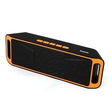 Veemoo Enceintes Stéréo Portable Bluetooth Hautparleur Avec Radio - Enceinte port usb