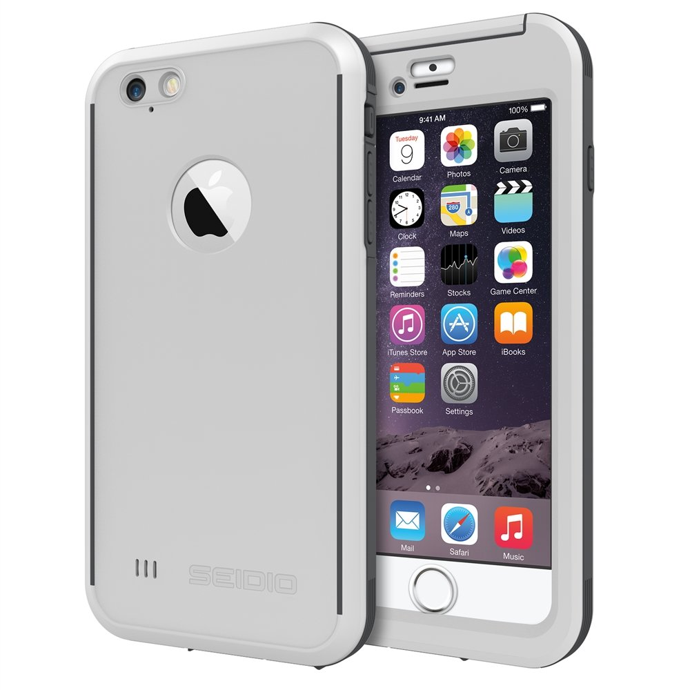 new style 0dc2d 92013 Seidio OBEX Waterproof Case for the iPhone 6 Plus/6s Plus [Drop Proof]  [Everyday Protection] - Retail Packaging - White/Gray