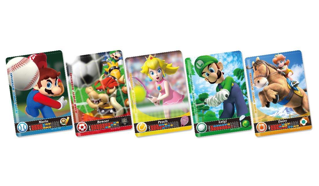 Nintendo - Pack De 5 Tarjetas Amiibo Mario Sports Superstars ...