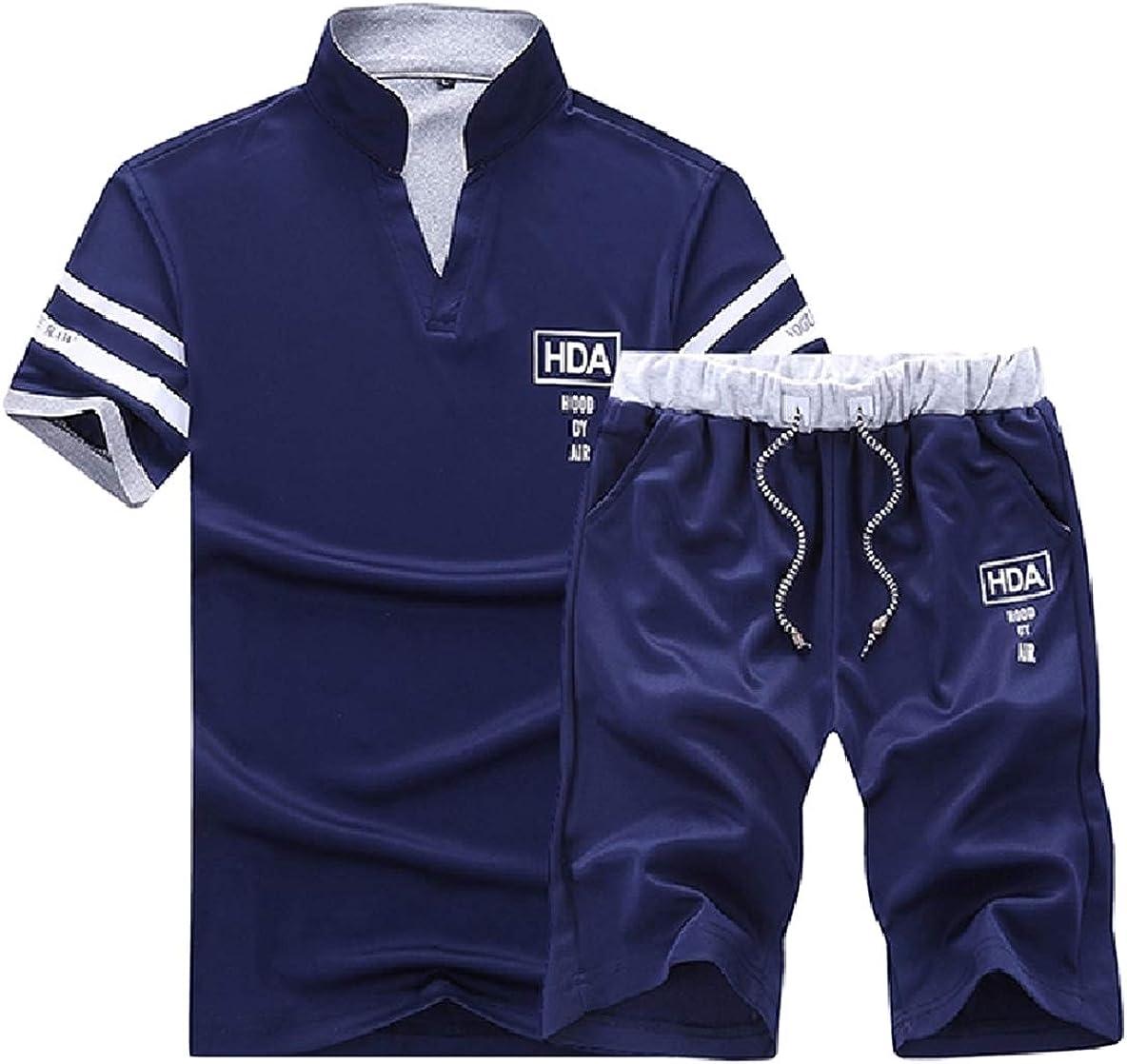 Winwinus Mens Absorb Sweat Summer Oversize Breathable Jacket Sweatshirt Set