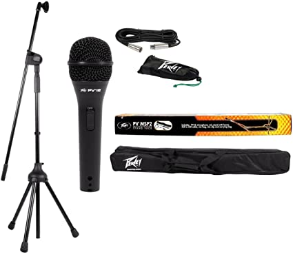 Peavey Black Orchestra Music Stand w// Microphone Stand Mic Clip /& XLR Cable
