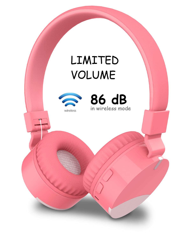 Auriculares Kids Bluetooth Inalambrico Headsets DHOZA Gorsun Plegable Earphones Stereo Sound Over-Ear con Microfono para