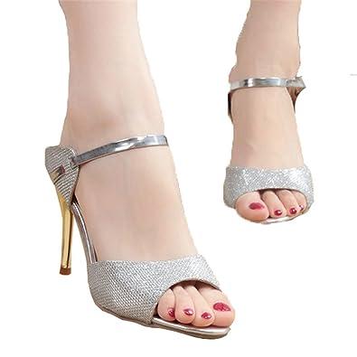 316fb321b3fd3 HEART LOVE Women Sandals Sexy High Heels Women Pumps New Women Shoes Gold  Silver Summer