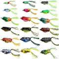 Croch Hollow Body Frog Lure Weedless Topwater Kit (18 PCS) from Croch