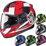 HJC CL-17 Striker Full-Face Motorcycle Helmet (Red/White, XXX-Large)