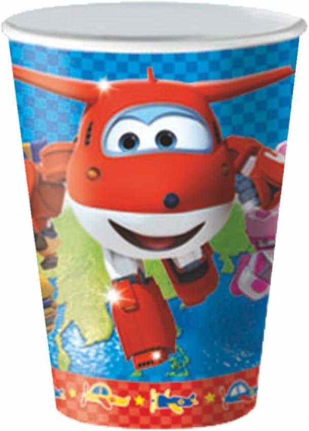 BBS Super Wings Vaso por microondas, Azul, Rojo y Blanco, 10.5x6.5x6.5 cm: Amazon.es: Hogar