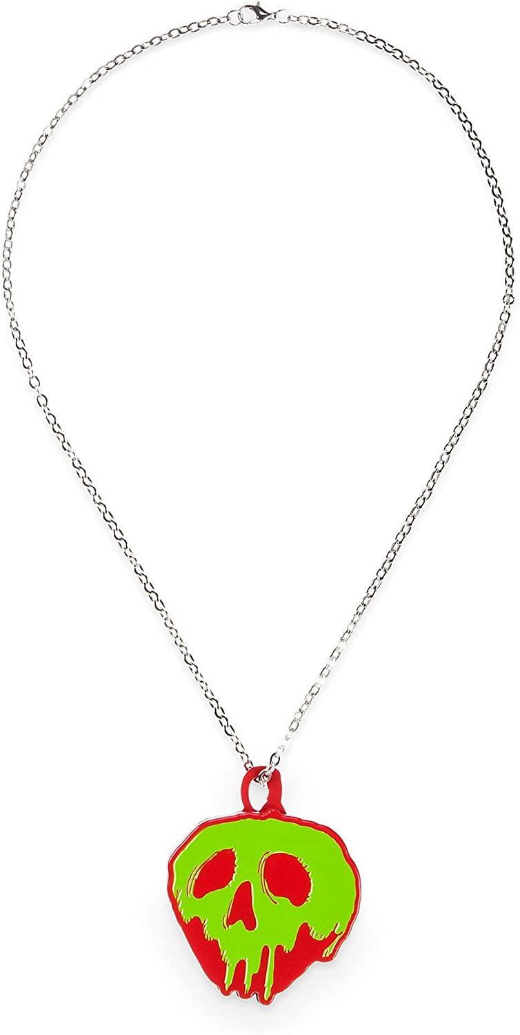 Disney Poisoned Apple Necklace with Compact Mirror - Snow White and the Seven Dwarfs White