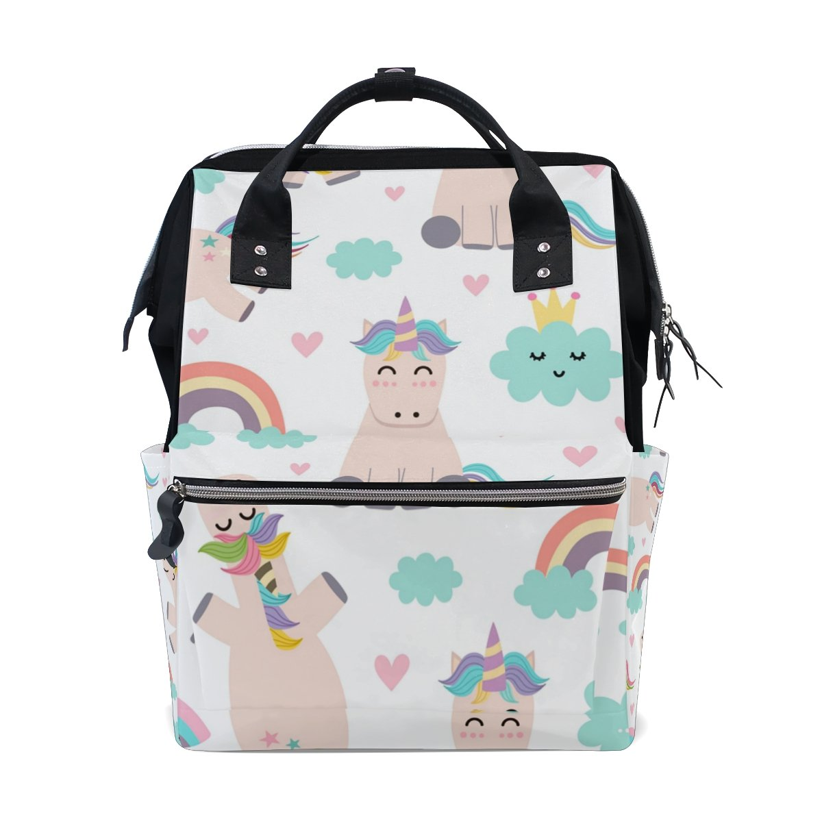 9ae78d4e3f12 Amazon.com   MAPOLO Unicorn Cloud Rainbow Diaper Backpack Large Capacity  Baby Bag Multi-Function Nappy Bags Travel Mom Backpack for Baby Care   Baby