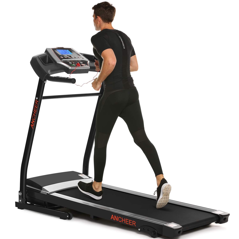ANCHEER App Control Electric Treadmill (Black_APP Control)
