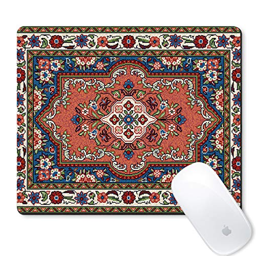 Galdas Gaming Mouse Pad Mosaic Sarouk Rug with a Classic Traditional Central Flower Motif Design Mousepad Non Slip Rubber Mouse MatRectangle Mouse Pads for Computers Laptop -Rug -