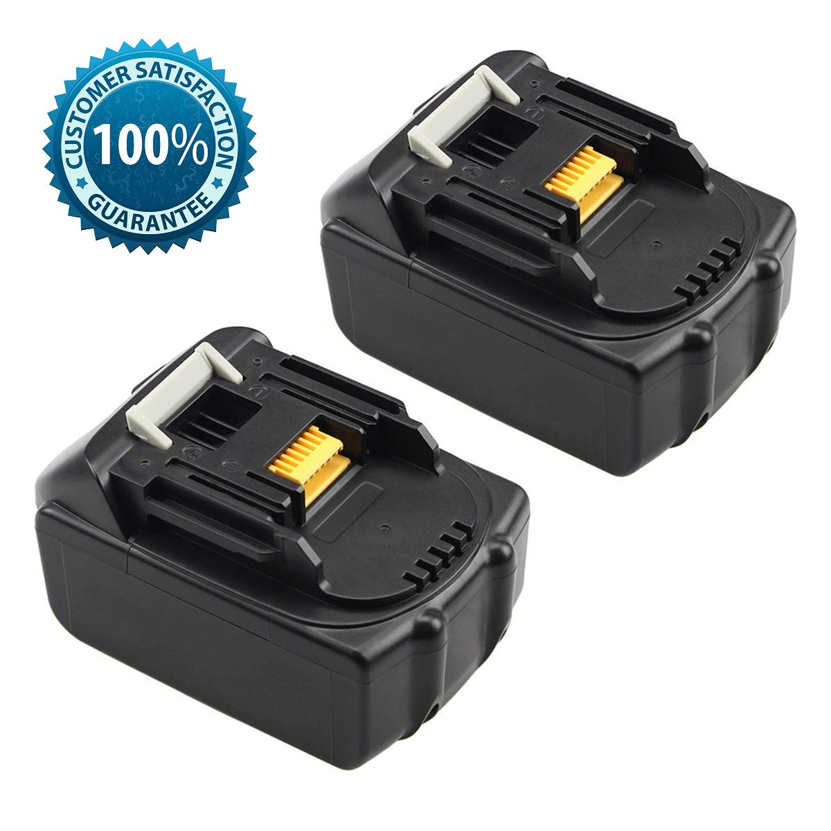 Eagglew Replace for Makita 18V Battery 5.0Ah LXT Lithium-Ion Replacement BL1850 BL1840 BL1845 BL1830 LXT400 Cordless Power Tools Batteries(2 Packs)