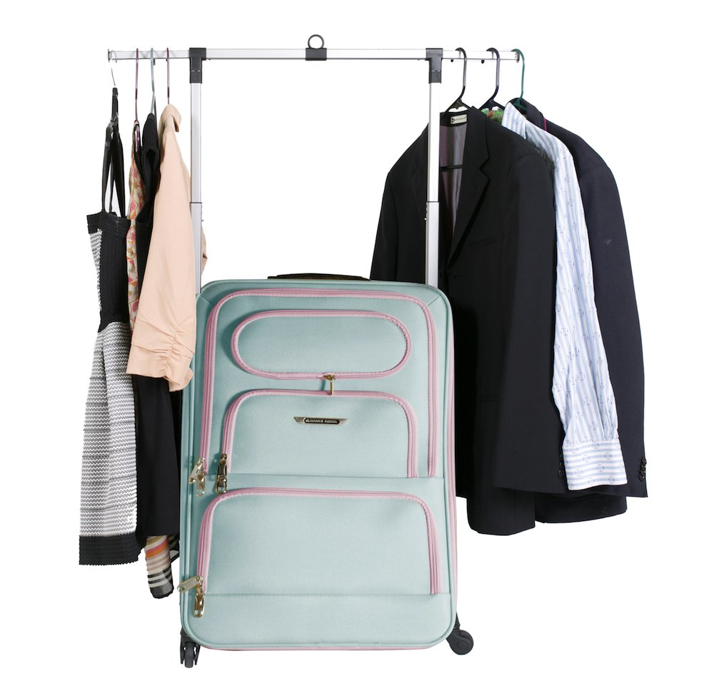 The Dance Angel Suitcase Large Aqua/Pink ''Electric Periwinkle''