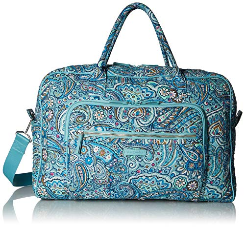 Vera Bradley Womens Iconic Weekender Travel Bag, Signature Cotton, Daisy Dot Paisley