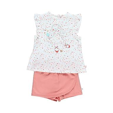 94b553ee6e8d1 Noukies Pyjama 2 pièces imprimé en Jersey Enfant Fille Blanc 3Y ...