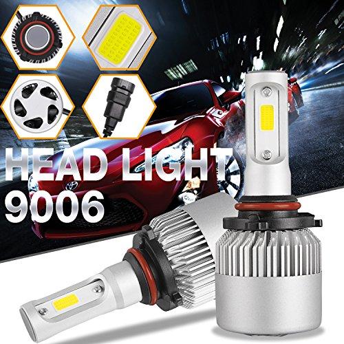 DJI 4X4 9006 HB4 LED Headlight Bulbs Kit, LED Headlamp Advanced CREE Chips 100W 10000LM 6000K Cool White - 1 Pair
