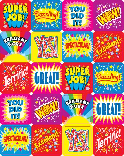 Carson Dellosa Positive Words Motivational Stickers (0625) from Carson Dellosa