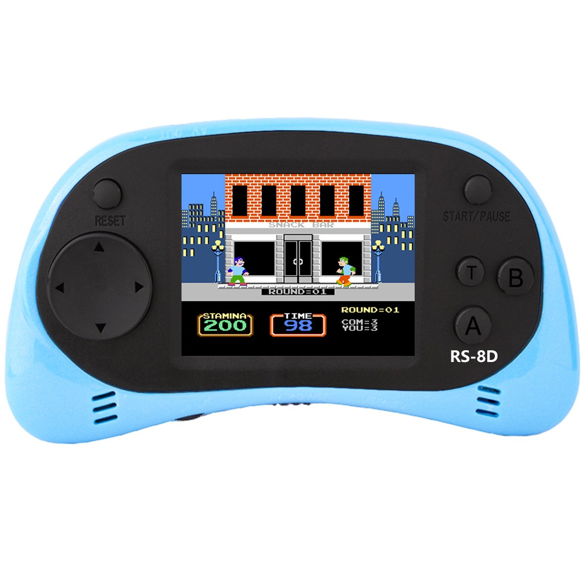 Kids Retro Handheld Games Console & TV Game Controller Built-in 260 Classic Old Style Video Games with 2.5'' Color LCD Screen Portable Arcade Gaming System Birthday Present for Children (Light Blue)
