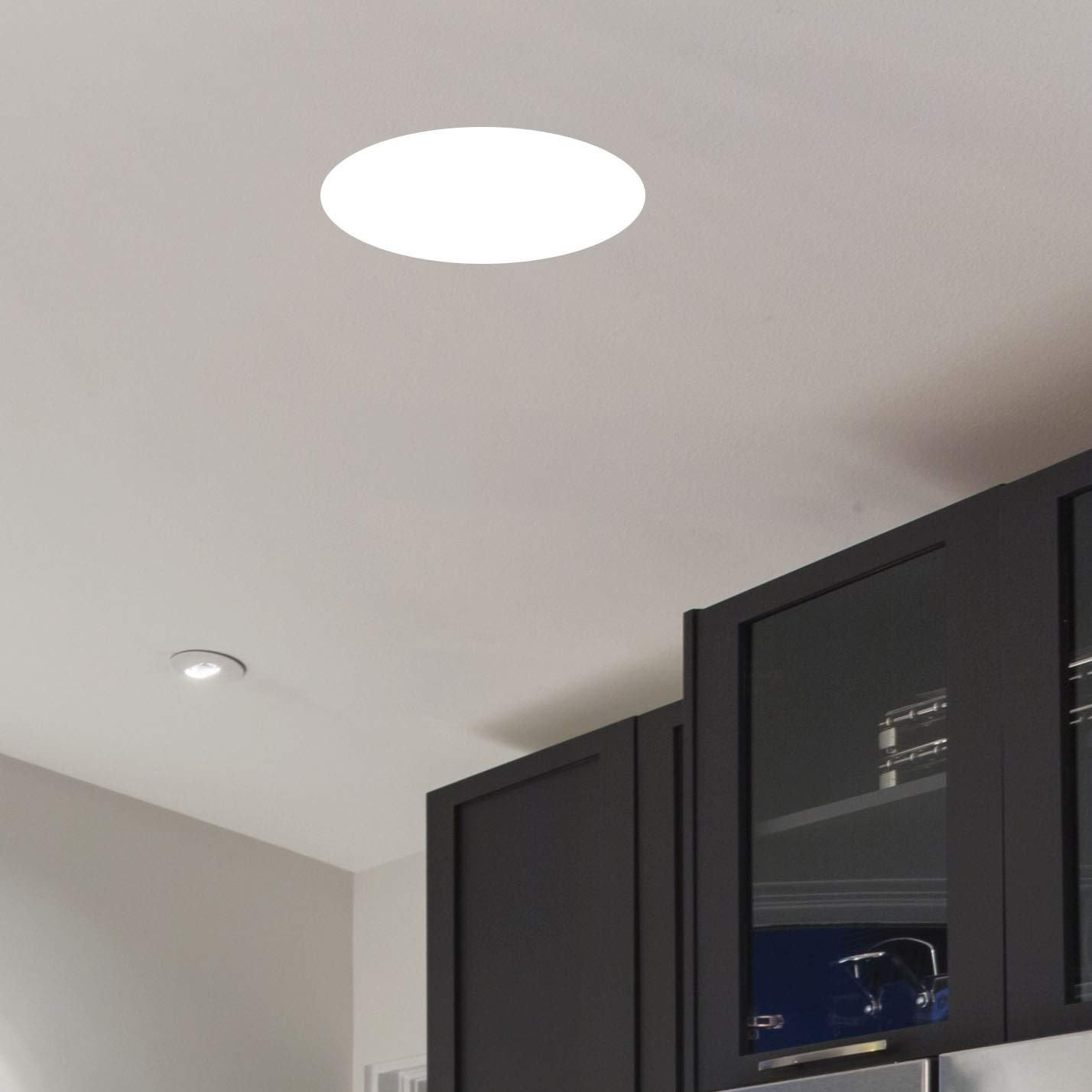 11'' Ceiling Light with White Diffuser (White Finish)