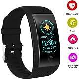 Opta SB-077 Rubber Heart Rate Monitor Smart Watch, Small (Black)