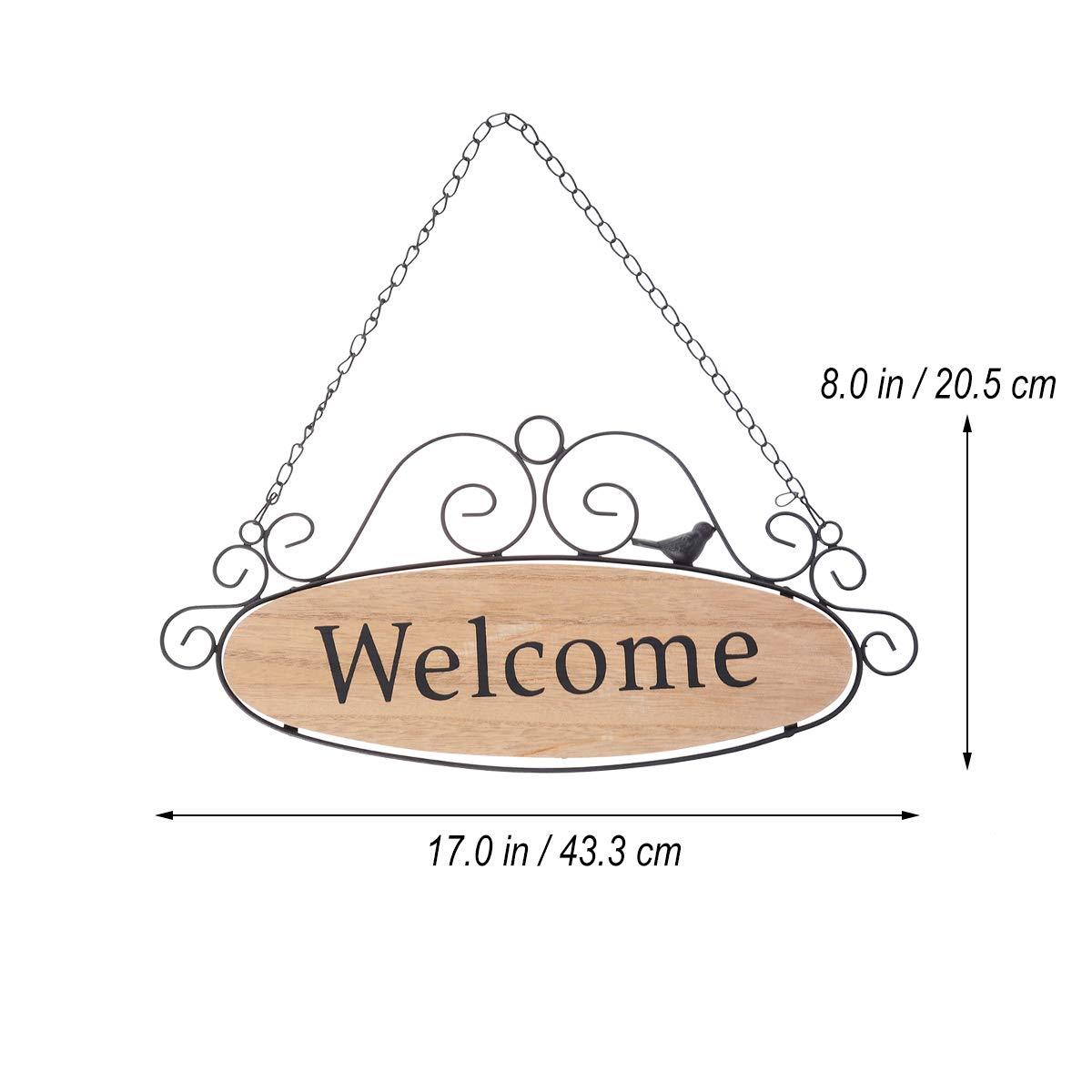 Vosarea Madera Puerta De Decorativo Bienvenida Carteles Signo ulJ3TKc1F5