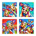 """DIY 5D Diamond Painting Kit, Full Diamond""""Cow Color Painting"""" Embroidery Rhinestone Cross Stitch Arts Craft Supply for Home Wall Decor"""