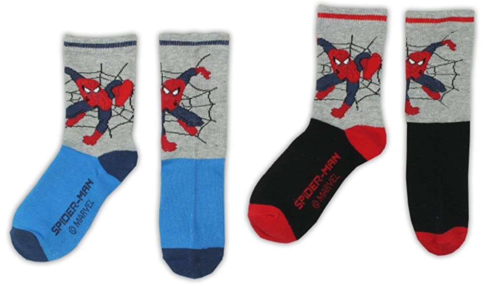 BOYS SPIDERMAN SOCKS - Design 2 - Pack of 2