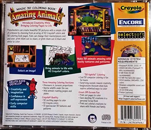 Amazon Crayola Magic 3D Coloring Book Amazing Animals Video Game Creativity Software