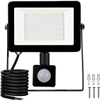 LED Foco Exterior con Sensor Movimiento, Proyector Led Impermeable IP65 Floodlight Led Foco Blanco Frío 6500K 2700lm…