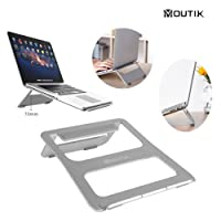 Moutik Laptop Stand Portable Aluminum Notebook Stand Holder Foldable Tablet Desk Stand for MacBook Pro 15 for Macbook Air 11 for ipad All 3.5-15 Inches Laptop Computer
