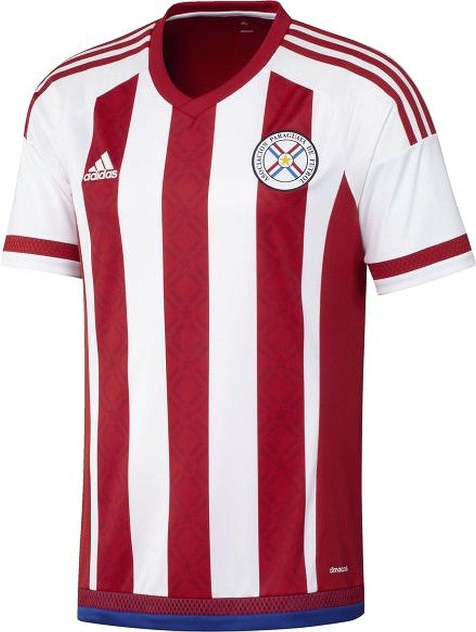 adidas para Hombre de Manga Corta Camiseta de Paraguay Replica ...