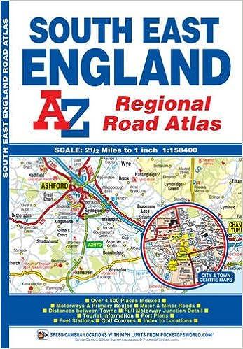 Atlas Map Of England.South East England Regional Road Atlas Amazon Co Uk Geographers