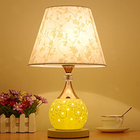 HM&DX Ceramic Bedside lamp, Modern Table Lamps Printed ...