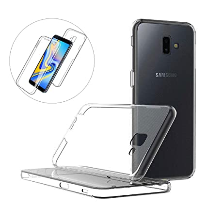 XCYYOO Funda para Samsung Galaxy J6 Plus Silicona,Carcasas para Samsung Galaxy J6 Plus, [Carcasa Protectora 360 Grados Full Body]e Suave Ultrafina Gel ...