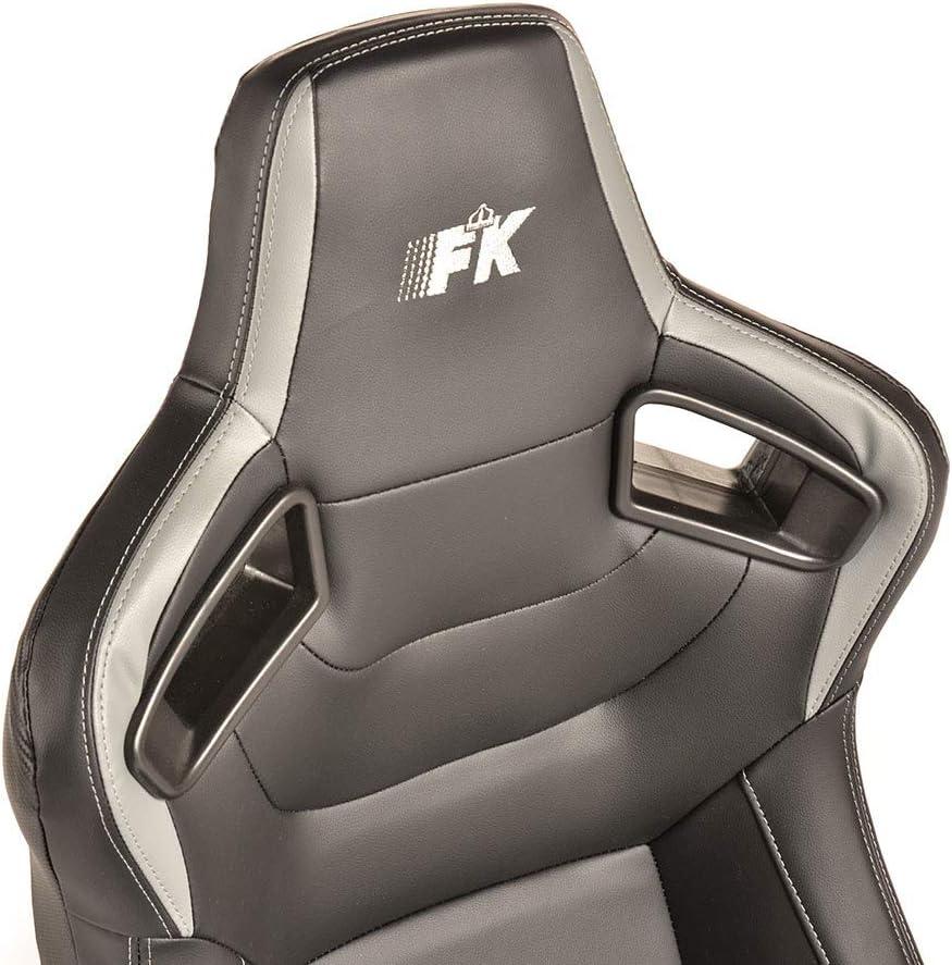 FK K/öln Si/ège de sport en cuir synth/étique Noir//gris carbone