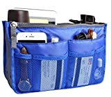 Large Purse Organizer Insert Handbag Pouch Tidy & Neat (Ships From USA) (Dark Blue)
