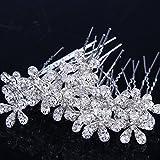 Stuffwholesale 20pcs Crystal Rhinestone Flower Hair Pins Wedding Bridal Bouquet Party Pearl Hair Clips (#3)