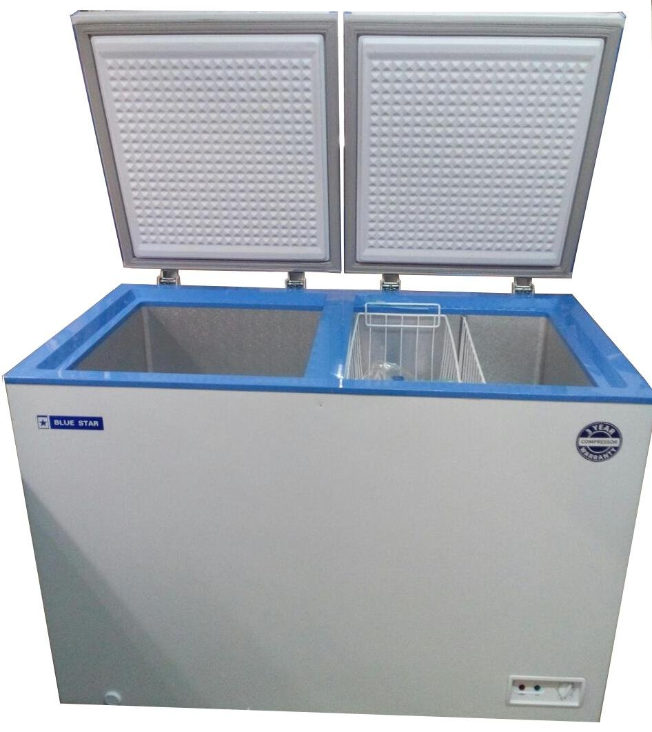 Blue Star Double Door 300 Liter Deep Freezer- White