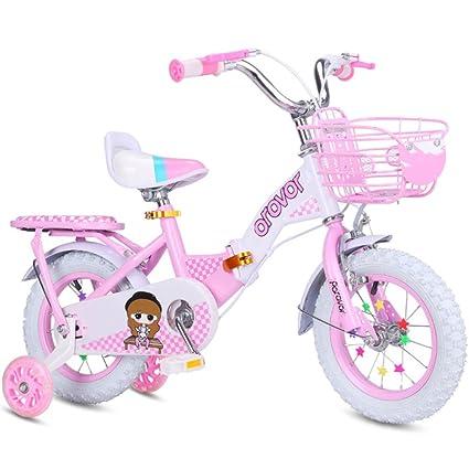 QXMEI Bicicleta Plegable Para Niños Bicicleta Portátil 3-7 Años De Edad Triángulo Para Evitar