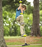 Outdoor Backyard Playground Rope Climber with Rubber Bottom Disc for Standing or Swinging for Tree or Swing Set, 250 LBS Weight Capacity, 78-Inches Long