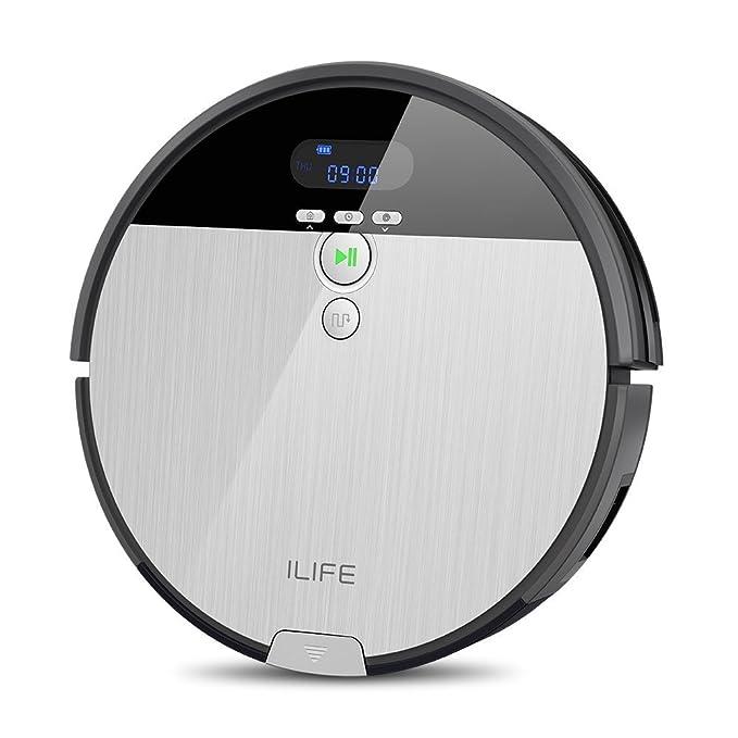 ILIFE ILIFE0005-ES Aspirador V8s Robot Piso de Barrido y fregado con Tanque de Agua, 5 Modos de Limpieza, Plástico