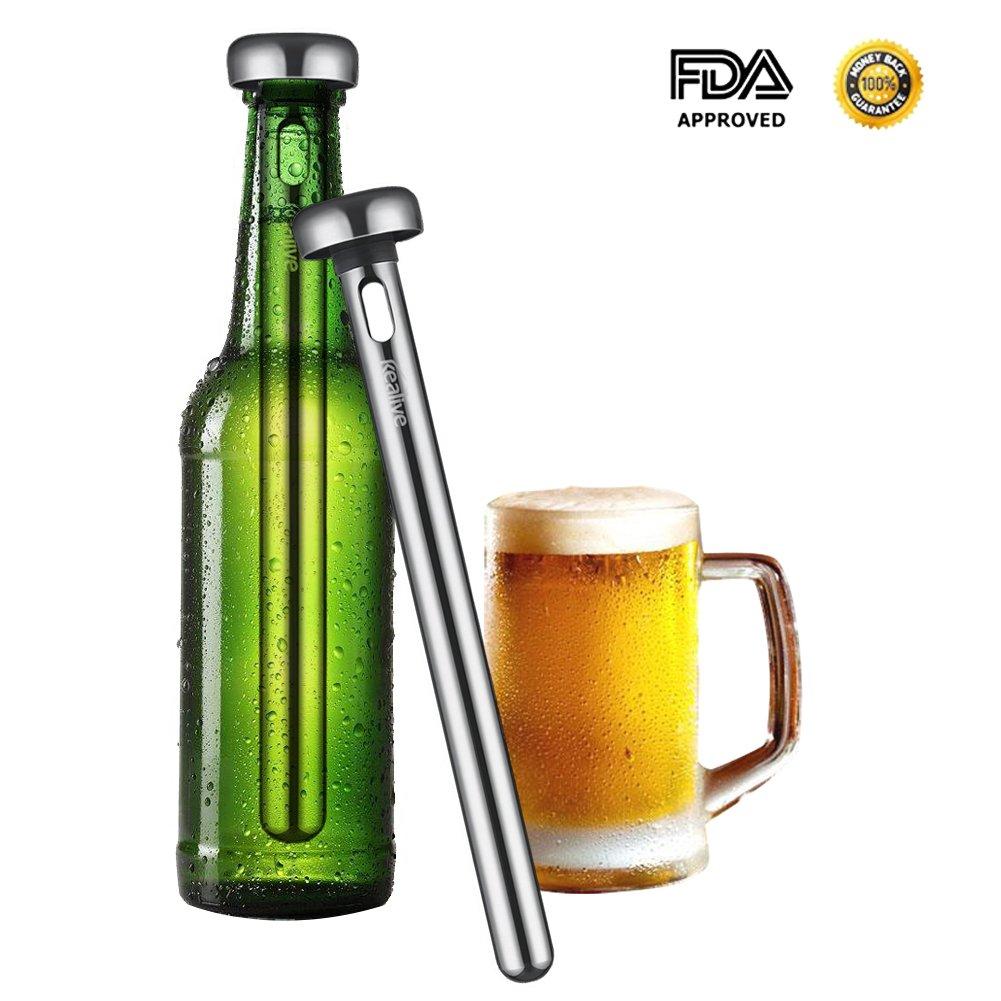 Beer Chiller Stick, Kealive Stainless Steel Beer Bottle Chilling Wort Chiller Sticks for Beer Lovers, 2 Count