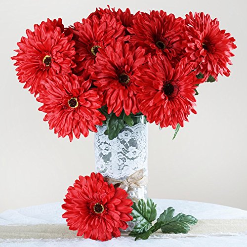 Efavormart 28 Artificial GERBERA Daisy Wedding Flowers Bushes - (Gerbera Daisy Bush)