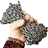 Paracord Army Camo 50 ft. Hank, 7 Internal Strands, Type III, 550 Lb. Break Strength. Military Survival Parachute Cord for Bracelets & Projects. Guaranteed Made In US. Includes 2 eBooks.