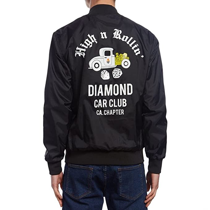 Diamond Supply Co - Diamond Club Varsity - Chaqueta UNIVERSITARIA Skate Hombre Color: Black Talla: XL: Amazon.es: Ropa y accesorios