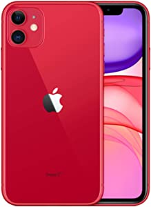 Apple iPhone 11, 64GB, Red - Fully Unlocked (Renewed)