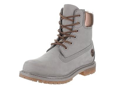 Women's AF 6 Inch Premium Grey W/Metallic Boot 7.5 Women US