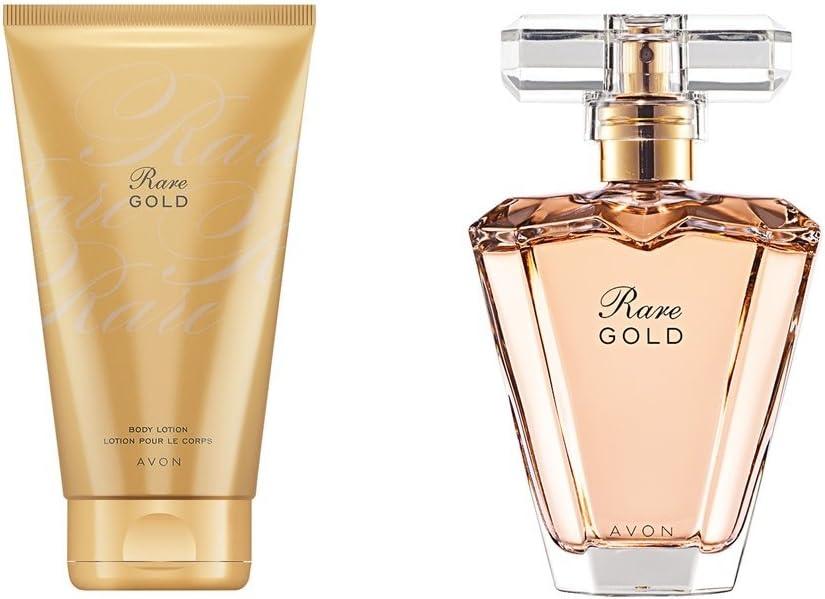 Avon Pack Rare Gold colonia perfume y locion corporal: Amazon.es: Belleza