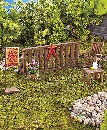 Miniatura país porche jardín escena conjuntos: Amazon.es: Jardín