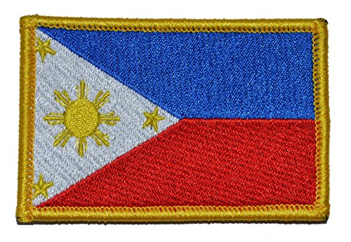 (Flag of the Philippines, Full Color Three Stars and a Sun Flag 2x3 Morale Patch)